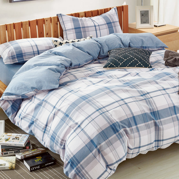 Beach Plaid Duvet Cover Set