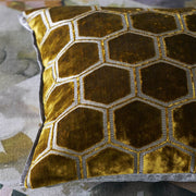 Velvet Manipur Geometric Pillow
