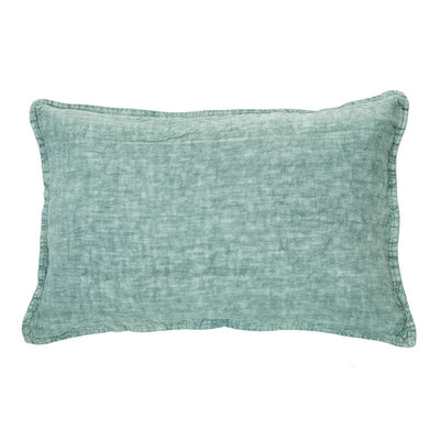 Linen Stone Wash Sage Cushion