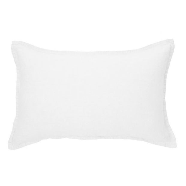 Linen Stone Wash White Cushion