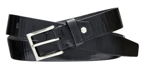 Textured Dress Belt - Black