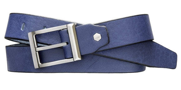 Modern Dress Belt - French Blue