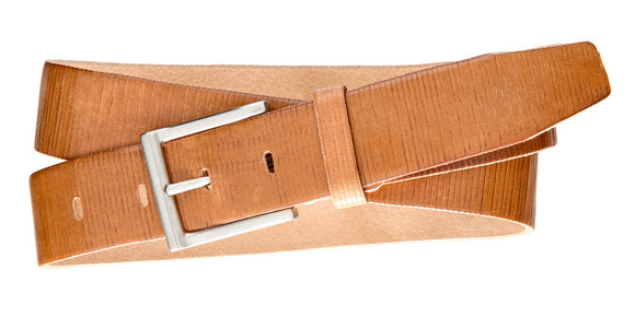 Textured Dress Belt - Med Tan