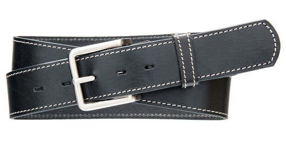 Classic Top Stitch Belt - Black