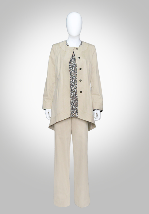 Elegant Jacket with HiLo Hem- Tan Color