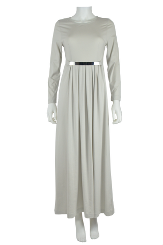 light grey maxi dress, full length dress, maxi dress, cotton maxi dress, jersey maxi dress, long sleeve maxi dress
