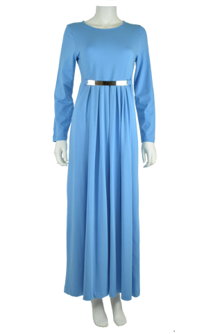 Cross-over Maxi Dress- Ocean
