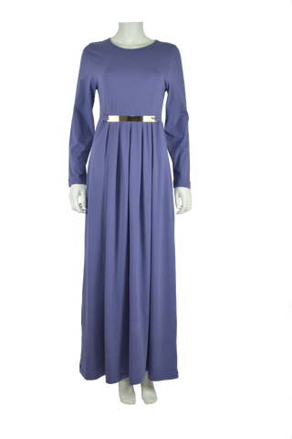 twilight blue maxi dress, full length dress, maxi dress, cotton maxi dress, jersey maxi dress, long sleeve maxi dress