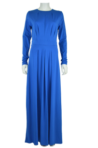 royal blue maxi dress, full length dress, maxi dress, cotton maxi dress, jersey maxi dress, long sleeve maxi dress
