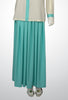 Aqua Maxi Skirt with Box Pleats