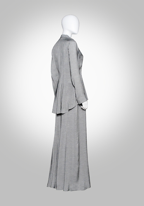 Gray Airy Fine-spun Suit