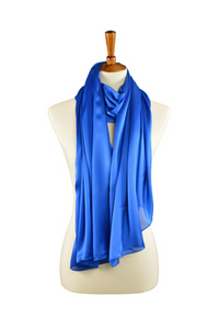 Oblong Royal Blue Silky Hijab