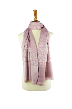Turkish Scroll Hijab- Mauve