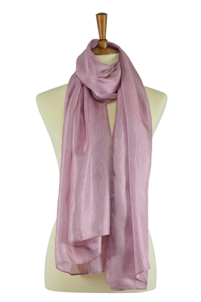 Antique rose silk-linen blend hijab scarf