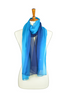 100% Silk Azure & Royal Ombre Scarf