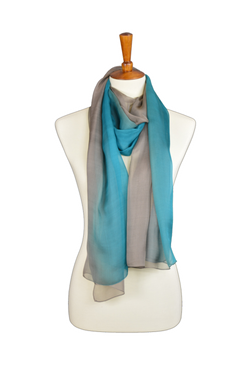 Sky Blue Silk Hijab