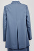 Back Italian Wool Bespoke Modest Suit Blue