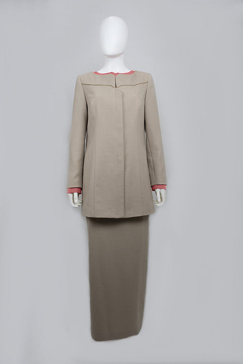 Italian Wool Bespoke Modest Suit Tan