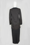 Elegant Bespoke Womens Modest Suit Black Brown