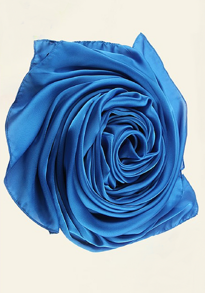 Royal Blue Silk Hijab