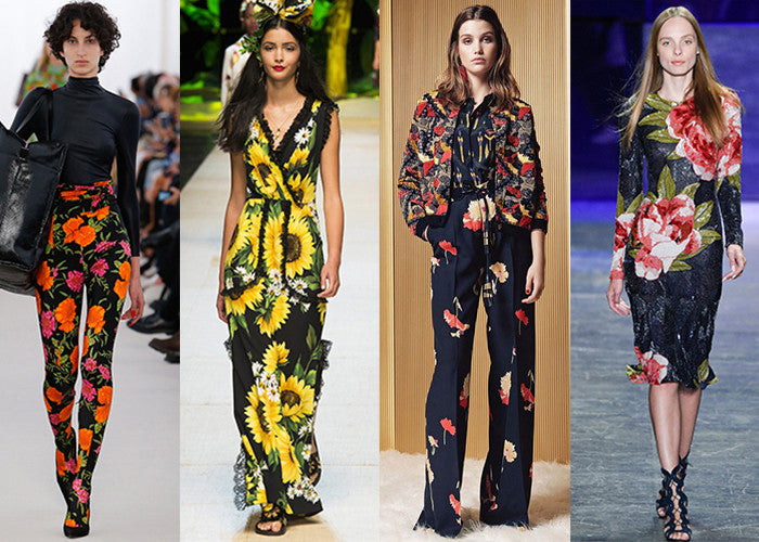 Floral Fashion Trends Spring 2017
