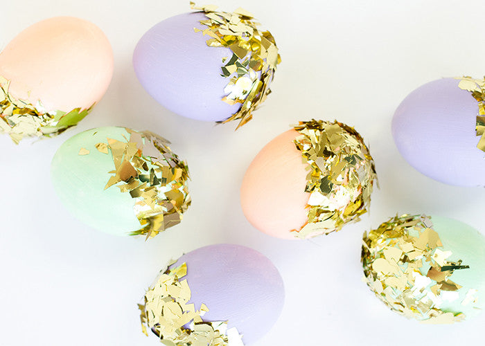 Gold Confetti Easter Egg DIY