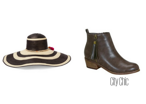 Straw Hat with City Chic Booties