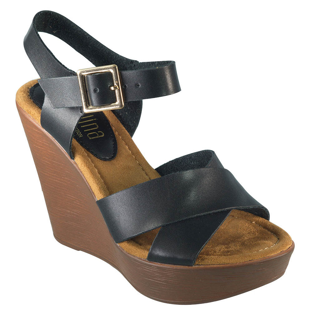 Emelia Wedge- Black