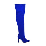Ester-2 Women's Thigh High Stiletto Boot- Royal Blue