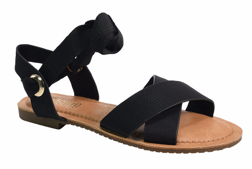 Wrapped Up Sandals- Black