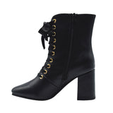 Susana-2 Women's Lace Up Booties - Black