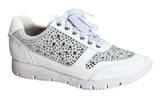 Metallic Mix Cross Train Sneaker - White