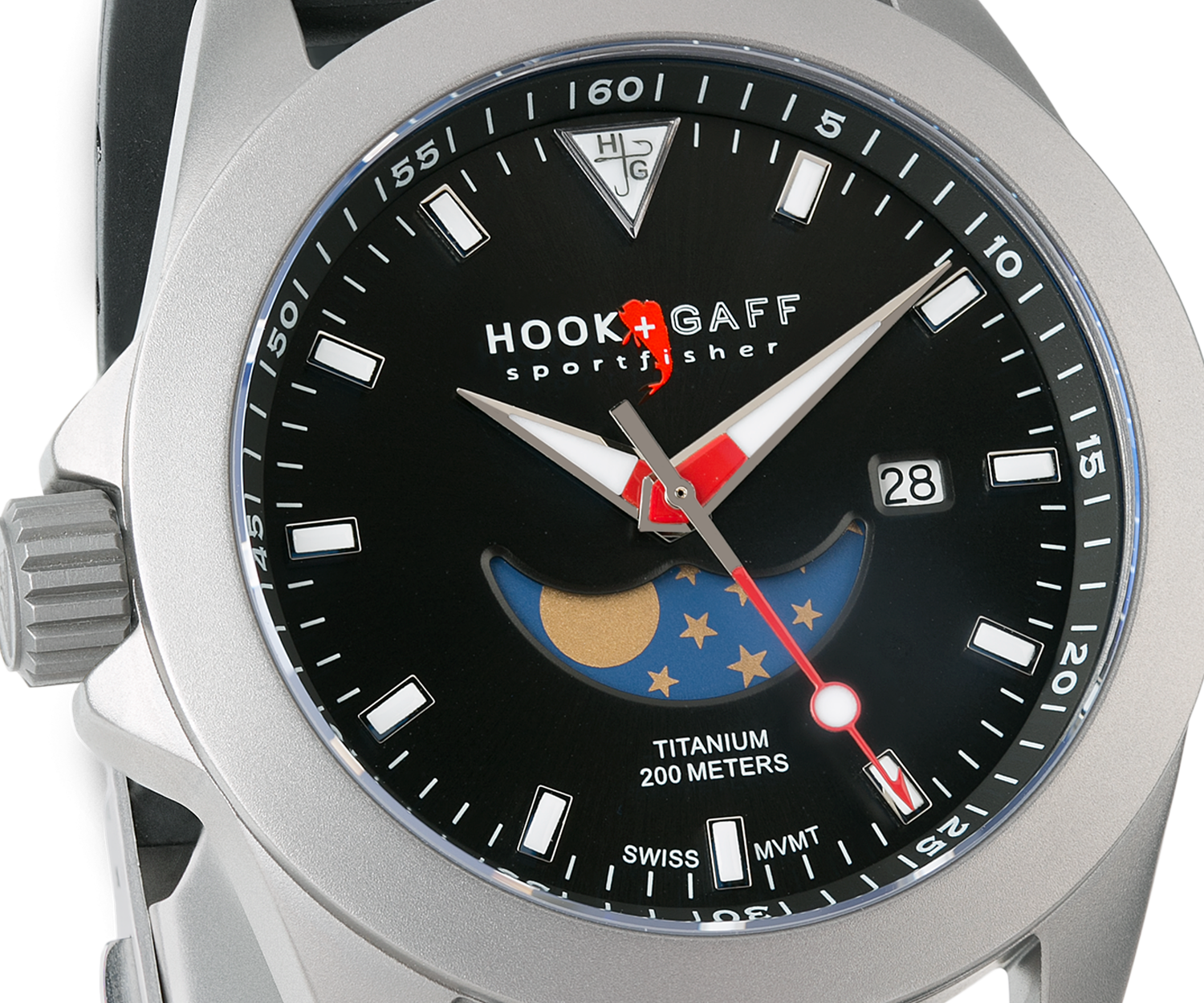 Sportfisher II MP - Black Moonphase Dial