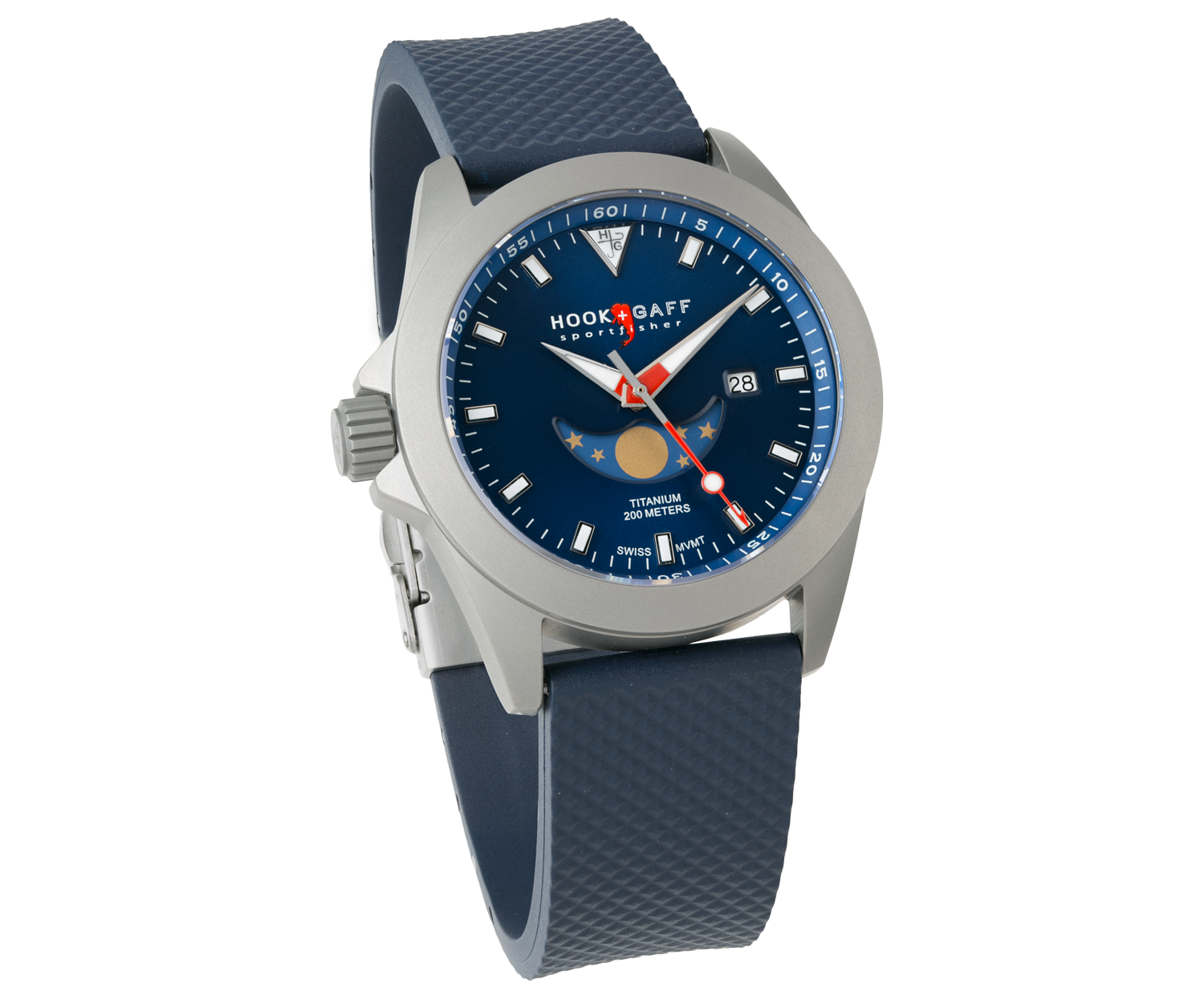 Sportfisher II MP - Blue Moonphase Dial