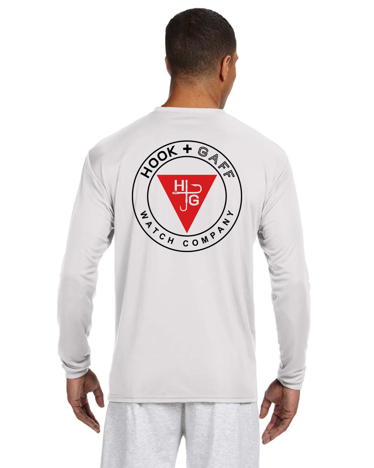 Merit Badge Long Sleeve performance T-Shirt - White