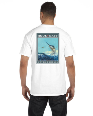 Blue Marlin T-Shirt - White