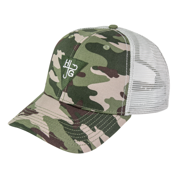 Camo High Crown-Trucker Hat