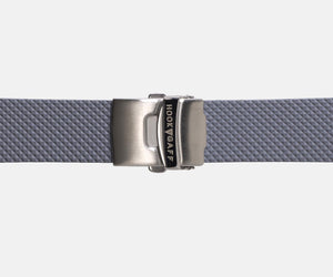 22mm Rubber Dive Watch Strap - Gray