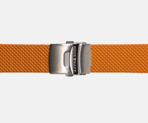 22mm Rubber Dive Watch Strap - Orange