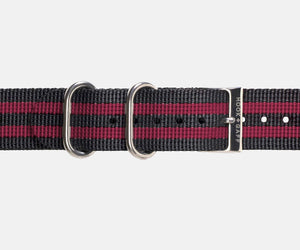 Garnet and Black G10 Nylon Watch Strap