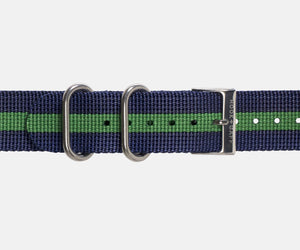 Navy and Green G10 Nylon Watch Strap