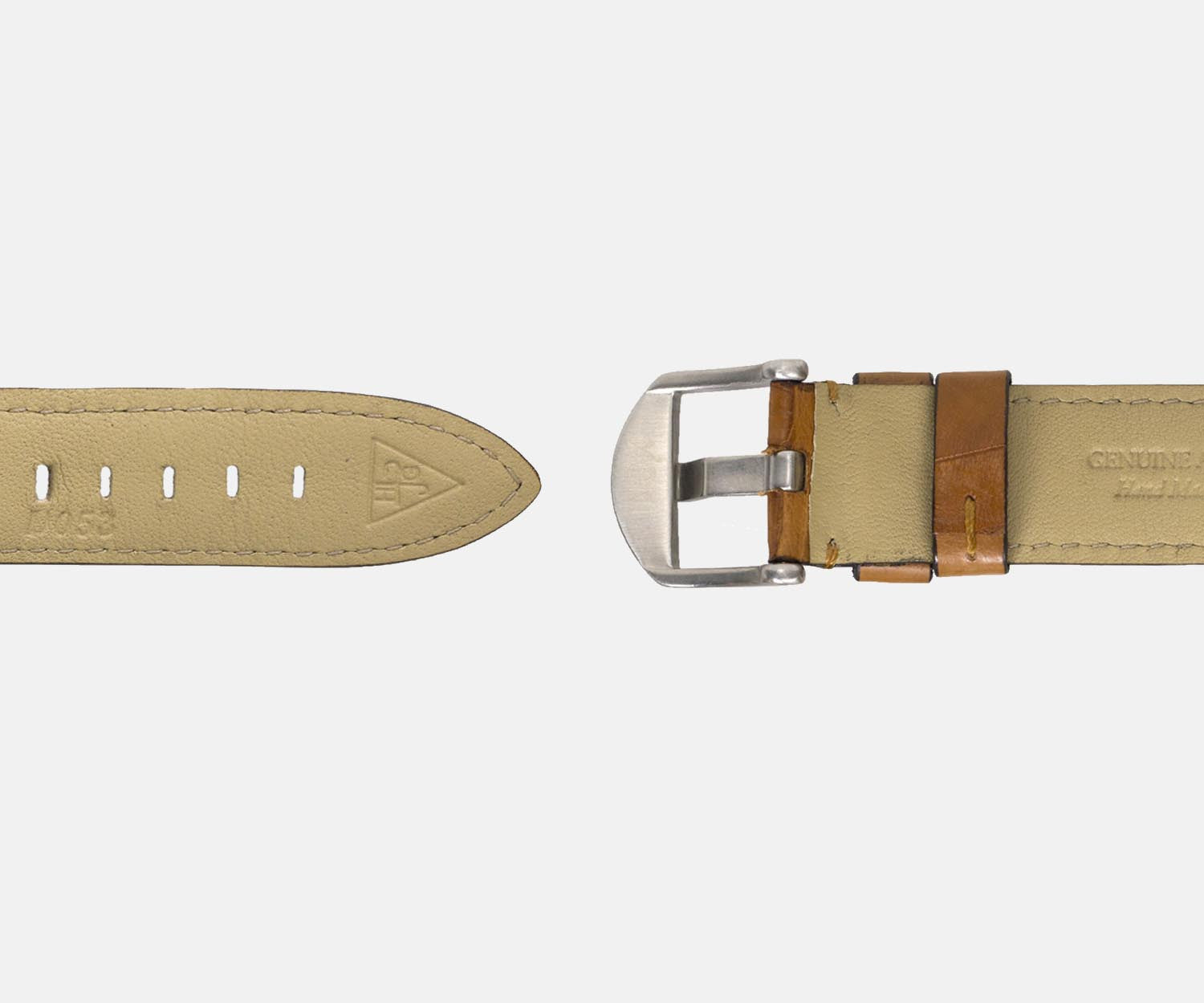 20mm Genuine Alligator Watch Strap - Tan