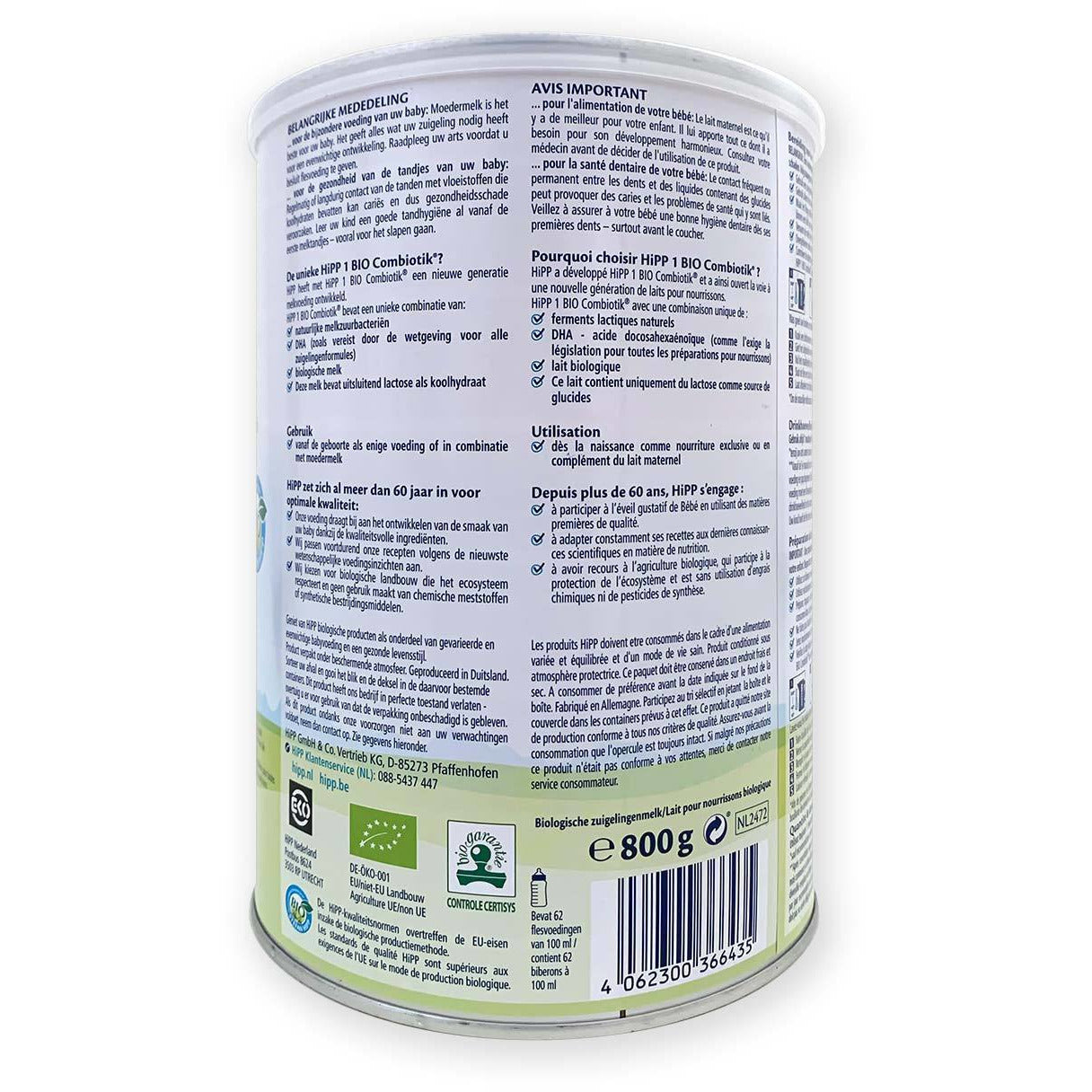 HiPP Dutch stage 1 organic infant milk formula from birth