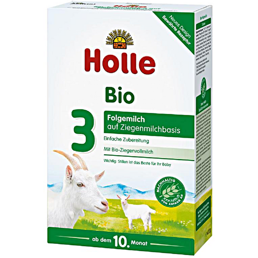 6-Pack Holle Goat Stage 3 Organic (Bio) Baby Milk Formula (400g)