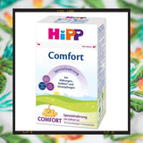 HiPP comfort infant formula helps ease gas, digestion related issues, and fussiness in babies