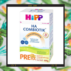 HiPP HA PRE is a hypoallergenic formula is a hypoallergenic formula made for babies age 0+ months with milk protein allergies