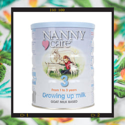 Nannycare stage 3 goat milk based follow on milk for toddlers one to three years old