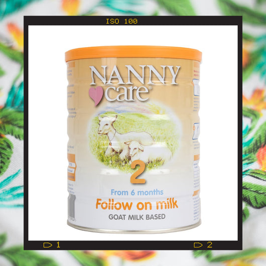 Nannycare stage 2 goat milk based follow on milk