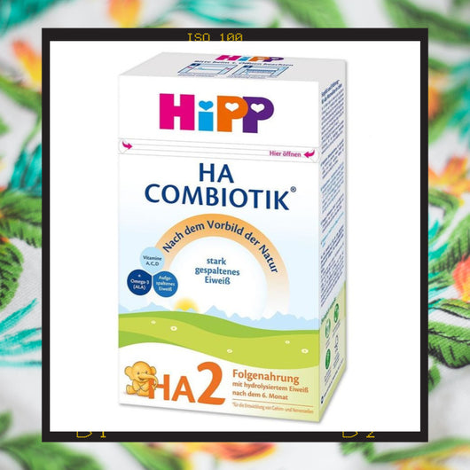HiPP HA 2 is a hypoallergenic formula is a hypoallergenic formula made for babies age 6+ months with milk protein allergies