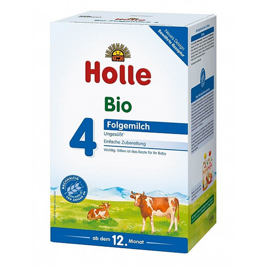 4 Pack of Holle Stage 4 Organic (Bio) Toddler Milk Formula (600g)